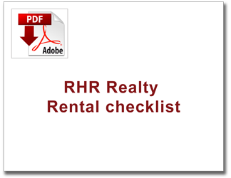 RHR realty rental checklist THUMB image