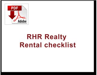 RHR realty rental checklist THUMB image